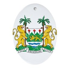 Sierra Leone Coat Of Arms Ornament (Oval)