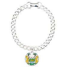 Sierra Leone Coat Of Arms Charm Bracelet, One Char