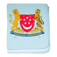 Singapore Coat Of Arms baby blanket
