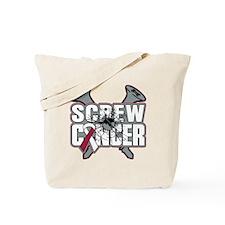 Screw Head Neck Cancer Tote Bag