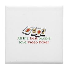 Video Poker Tile Coaster
