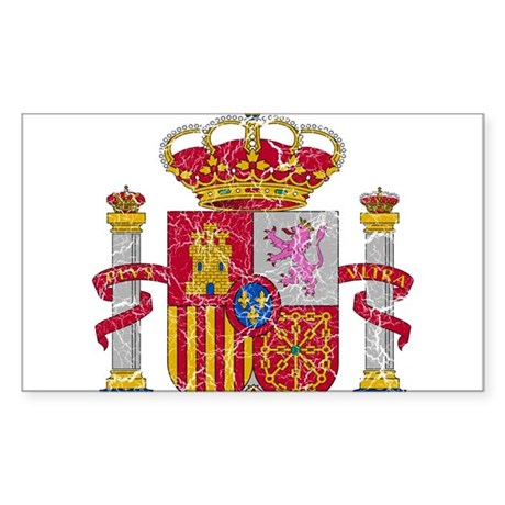 Spain Coat Of Arms Sticker (Rectangle)