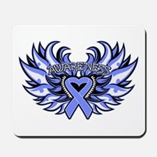 Stomach Cancer Heart Wings Mousepad