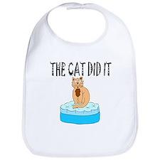 Cat Did It Bib