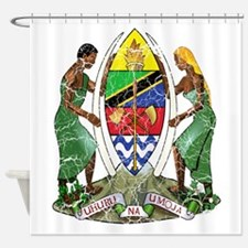 Tanzania Coat Of Arms Shower Curtain