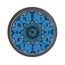 Scenic Church Wall Clock - Blue