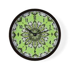Scenic Church Wall Clock - Green
