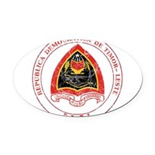 Timor Leste Coat Of Arms Oval Car Magnet