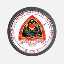 Timor Leste Coat Of Arms Wall Clock