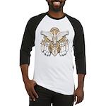 Native American Swan Mandala Baseball Jersey