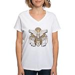 Native American Swan Mandala Women's V-Neck T-Shir