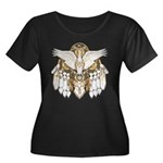 Native American Swan Mandala Women's Plus Size Sco