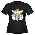 Native American Swan Mandala Women's Plus Size V-N