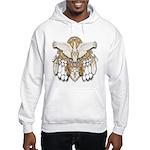 Native American Swan Mandala Hooded Sweatshirt
