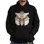 Native American Swan Mandala Hoodie (dark)