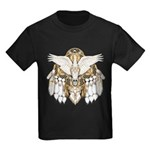 Native American Swan Mandala Kids Dark T-Shirt