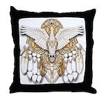 Native American Swan Mandala Throw Pillow