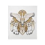 Native American Swan Mandala Throw Blanket