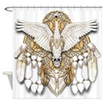 Native American Swan Mandala Shower Curtain