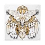 Native American Swan Mandala Queen Duvet