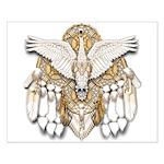 Native American Swan Mandala Small Poster
