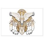Native American Swan Mandala Large Poster