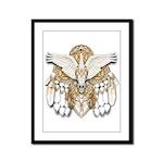 Native American Swan Mandala Framed Panel Print