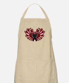 Skin Cancer Heart Wings Apron