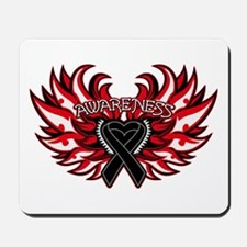 Skin Cancer Heart Wings Mousepad