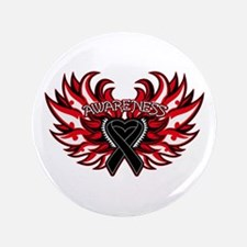 "Skin Cancer Heart Wings 3.5"" Button (100 pack)"