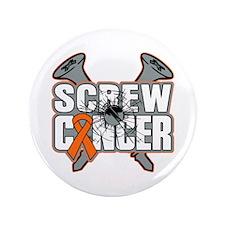 "Screw Leukemia Cancer 3.5"" Button (100 pack)"