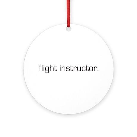 Flight Instructor Ornament (Round)