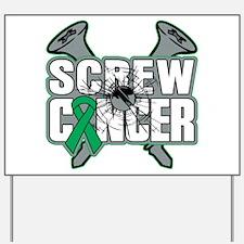 Screw Liver Cancer Yard Sign