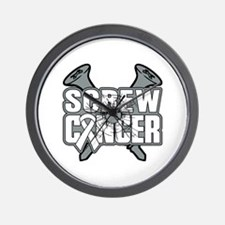 Screw Lung Cancer Wall Clock