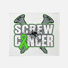 Screw Lymphoma Cancer Throw Blanket