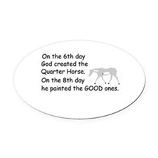 Paint Horse Oval Car Magnet