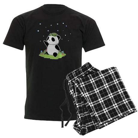 Turtle on a Panda Men's Dark Pajamas