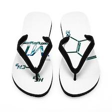 DMT Molecule Blue Flip Flops