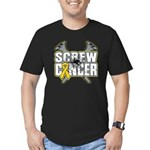 Screw Neuroblastoma Cancer Men's Fitted T-Shirt (d