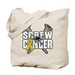Screw Neuroblastoma Cancer Tote Bag