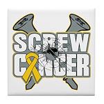 Screw Neuroblastoma Cancer Tile Coaster