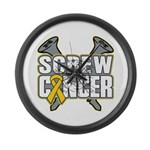 Screw Neuroblastoma Cancer Large Wall Clock