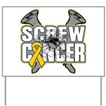 Screw Neuroblastoma Cancer Yard Sign