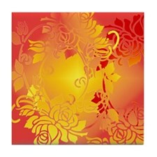 Red Hot and Rosy Tile Coaster