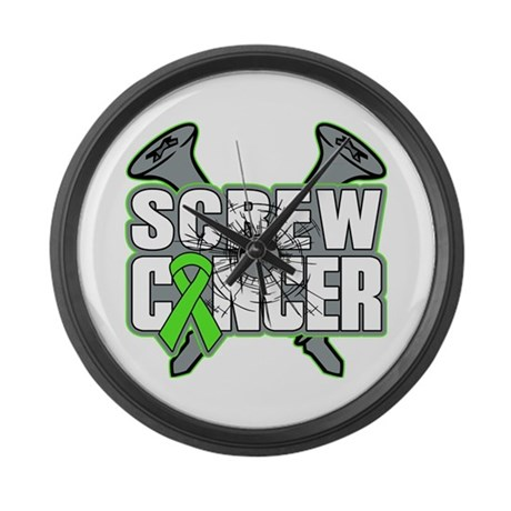 Screw Non-Hodgkins Cancer Large Wall Clock