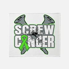 Screw Non-Hodgkins Cancer Throw Blanket
