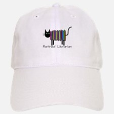 Retired Librarian Book Cat.PNG Baseball Baseball Cap