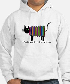 Retired Librarian Book Cat.PNG Hoodie