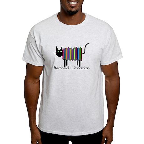 Retired Librarian Book Cat.PNG Light T-Shirt