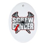 Screw Oral Cancer Ornament (Oval)